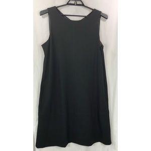 Eileen Fisher silk lined shift dress pockets 6445